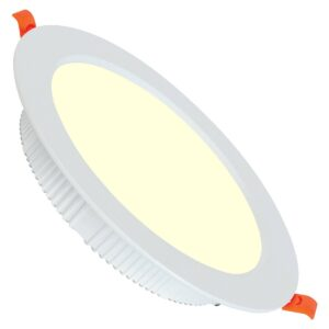 LED Downlight - Alexy - Inbouw Rond 30W - Warm Wit 3000K - Mat Wit Aluminium - Ø230mm-1