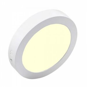 LED Downlight - Opbouw Rond 18W - Warm Wit 3000K - Mat Wit Aluminium - Ø225mm-1