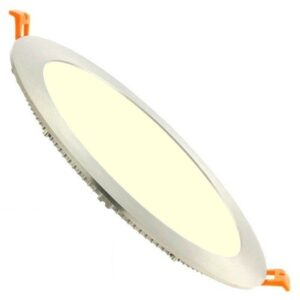 LED Downlight Slim - Facto - Inbouw Rond 18W - Warm Wit 3000K - RVS - Ø223mm-1