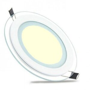 LED Downlight Slim - Inbouw Rond 15W - Warm Wit 3000K - Mat Wit Glas - Ø200mm-1