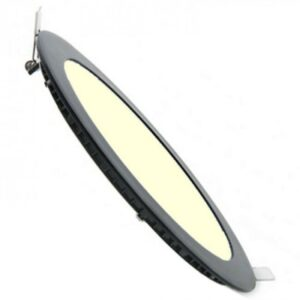 LED Downlight Slim - Inbouw Rond 3W - Dimbaar - Warm Wit 3000K - Mat Zwart Aluminium - Ø90mm-1