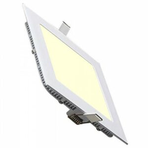 LED Downlight Slim - Inbouw Vierkant 12W - Warm Wit 2700K - Mat Wit Aluminium - 170mm-1