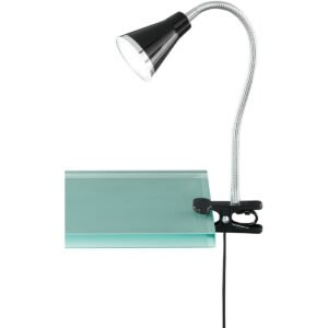 LED Klemlamp - Trion Arora - 3W - Warm Wit 3000K - Glans Zwart - Kunststof-1