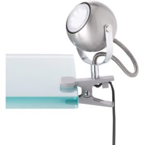 LED Klemlamp - Trion Bosty - GU10 Fitting - Mat Nikkel - Aluminium-1