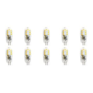 LED Lamp 10 Pack - Aigi - G4 Fitting - 2W - Warm Wit 3000K | Vervangt 20W-1