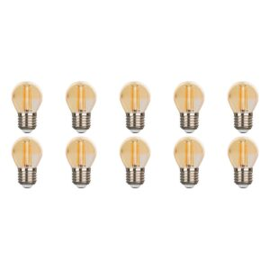 LED Lamp 10 Pack - Facto - Filament Bulb - E27 Fitting - 4W - Warm Wit 2700K-1