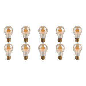 LED Lamp 10 Pack - Facto - Filament Bulb - E27 Fitting - Dimbaar - 7W - Warm Wit 2700K-1