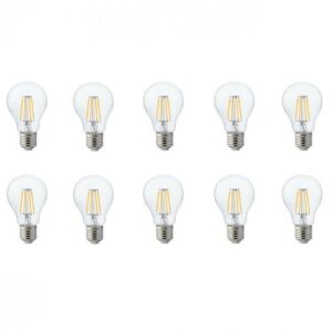 LED Lamp 10 Pack - Filament - E27 Fitting - 6W - Warm Wit 2700K-1