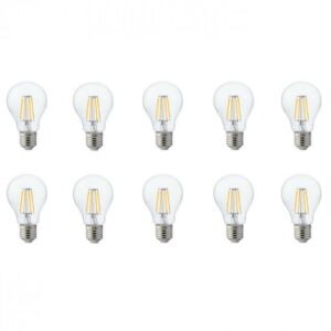 LED Lamp 10 Pack - Filament - E27 Fitting - 8W - Warm Wit 2700K-1