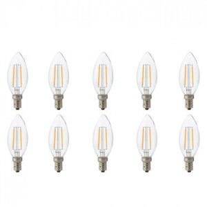 LED Lamp 10 Pack - Kaarslamp - Filament - E14 Fitting - 2W - Natuurlijk Wit 4200K-1