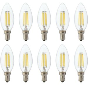 LED Lamp 10 Pack - Kaarslamp - Filament - E14 Fitting - 6W Dimbaar - Warm Wit 2700K-1