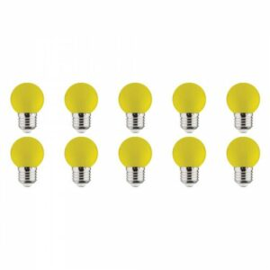 LED Lamp 10 Pack - Romba - Geel Gekleurd - E27 Fitting - 1W-1