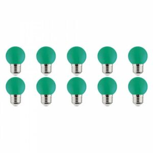 LED Lamp 10 Pack - Romba - Groen Gekleurd - E27 Fitting - 1W-1