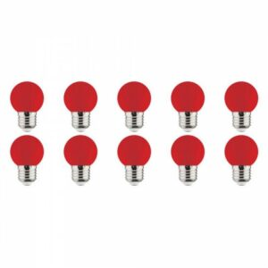LED Lamp 10 Pack - Romba - Rood Gekleurd - E27 Fitting - 1W-1