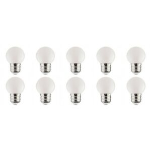 LED Lamp 10 Pack - Romba - Wit Gekleurd - E27 Fitting - 1W-1