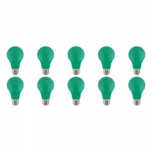 LED Lamp 10 Pack - Specta - Groen Gekleurd - E27 Fitting - 3W-1