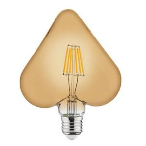 LED Lamp - Filament Rustiek - Hart - E27 Fitting - 6W - Warm Wit 2200K-1