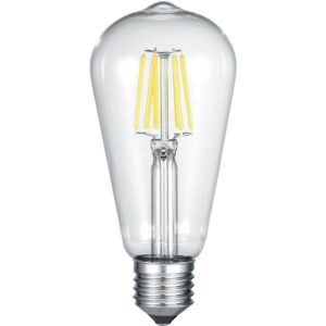 LED Lamp WiZ - Trion Akusti - E27 Fitting - 6W - Slimme LED - Dimbaar - Nachtlicht - Transparent Helder - Glas-1