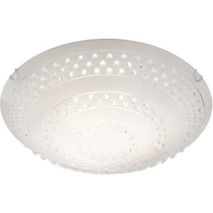 LED Plafondlamp - Plafondverlichting - Trion Crasto - E27 Fitting - 3-lichts - Rond - Mat Wit - Aluminium-1
