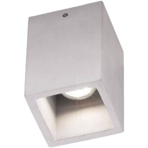 LED Plafondlamp - Plafondverlichting - Trion Cubin - GU10 Fitting - Vierkant - Beton Look - Beton-1