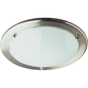LED Plafondlamp - Plafondverlichting - Trion Primy - E27 Fitting - Rond - Mat Nikkel - Aluminium-1