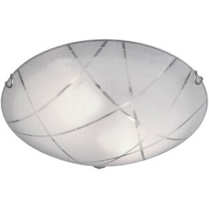LED Plafondlamp - Plafondverlichting - Trion Sandra - E27 Fitting - 2-lichts - Rond - Mat Wit - Glas-1