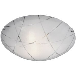 LED Plafondlamp - Plafondverlichting - Trion Sandra - E27 Fitting - 3-lichts - Rond - Mat Wit - Glas-1