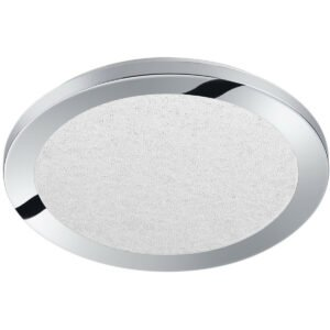 LED Plafondlamp - Trion Ceaniry - Opbouw Rond 15W - Spatwaterdicht IP44 - Dimbaar - Warm Wit 3000K - Glans Chroom-1