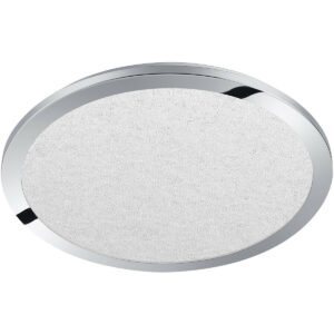 LED Plafondlamp - Trion Ceaniry - Opbouw Rond 30W - Spatwaterdicht IP44 - Dimbaar - Warm Wit 3000K - Glans Chroom-1