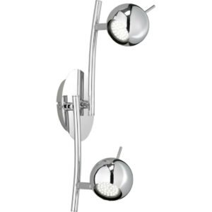 LED Plafondspot - Trion Borlo - GU10 Fitting - 2-lichts - Rond - Glans Chroom - Aluminium-1