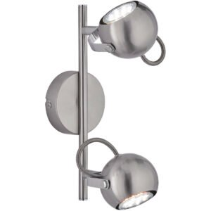 LED Plafondspot - Trion Bosty - GU10 Fitting - 2-lichts - Rond - Mat Nikkel - Aluminium-1