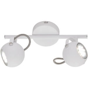 LED Plafondspot - Trion Bosty - GU10 Fitting - 2-lichts - Rond - Mat Wit - Aluminium-1