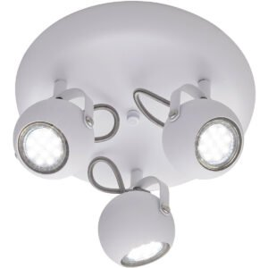 LED Plafondspot - Trion Bosty - GU10 Fitting - 3-lichts - Rond - Mat Wit - Aluminium-1