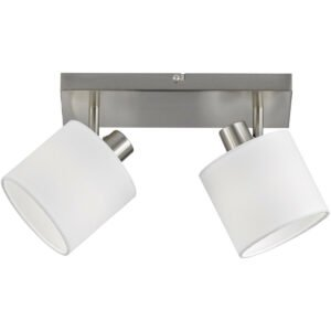 LED Plafondspot - Trion Torry - E14 Fitting - 2-lichts - Rond - Mat Nikkel - Aluminium-1