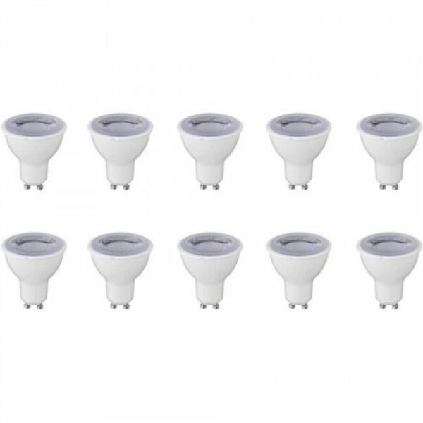 LED Spot 10 Pack - GU10 Fitting - Dimbaar - 6W - Helder/Koud Wit 6400K-1