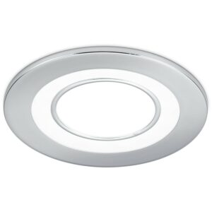 LED Spot - Inbouwspot - Trion Cynomi - 5W - Warm Wit 3000K - Rond - Mat Chroom - Kunststof - Ø80mm-1