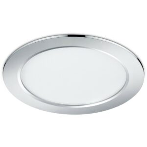 LED Spot - Inbouwspot - Trion Pandus - 18W - Warm Wit 3000K - Rond - Mat Chroom - Aluminium - Ø220mm-1