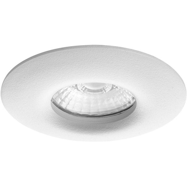 LED Spot Set - Pragmi Luno Pro - Waterdicht IP65 - GU10 Fitting - Dimbaar - Inbouw Rond - Mat Wit - 6W - Helder/Koud Wit 6400K - Ø82mm-2