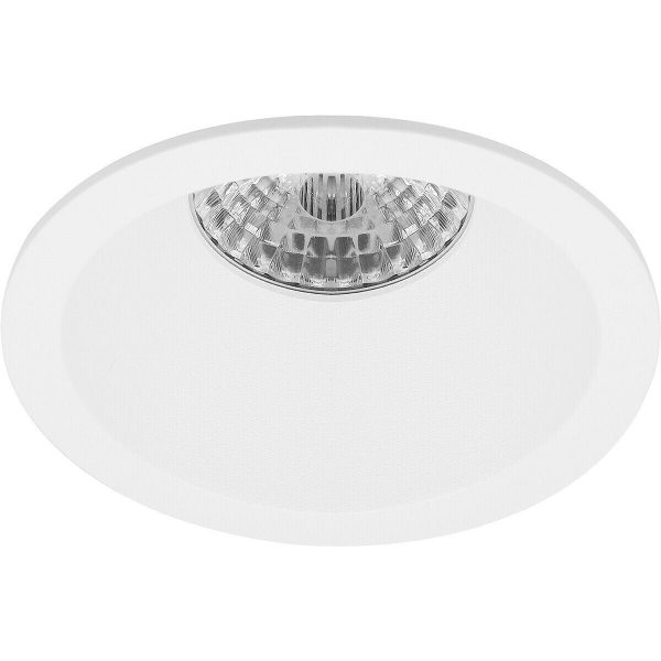 LED Spot Set - Pragmi Pollon Pro - GU10 Fitting - Inbouw Rond - Mat Wit - 6W - Warm Wit 3000K - Verdiept - Ø82mm-2