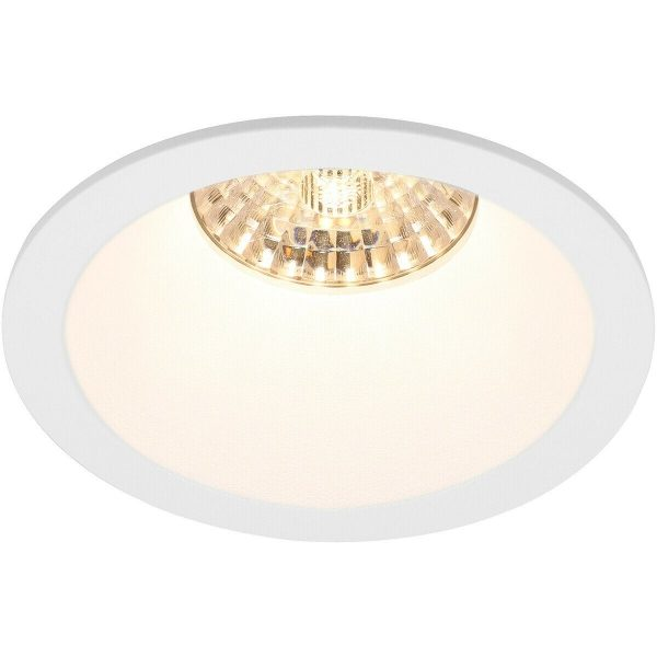 LED Spot Set - Pragmi Pollon Pro - GU10 Fitting - Inbouw Rond - Mat Wit - 6W - Warm Wit 3000K - Verdiept - Ø82mm-4