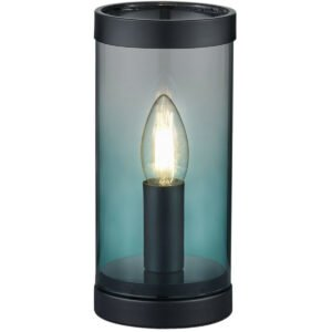 LED Tafellamp - Tafelverlichting - Trion Culo - E14 Fitting - Rond - Turquoise - Aluminium-1