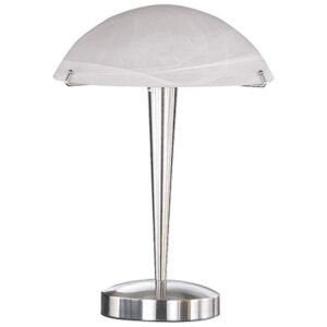 LED Tafellamp - Tafelverlichting - Trion Honk - E14 Fitting - Rond - Mat Nikkel - Aluminium-1