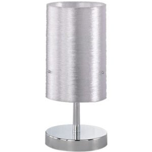 LED Tafellamp - Tafelverlichting - Trion Licon - E14 Fitting - Dimbaar - Rond - Mat Chroom - Aluminium-1