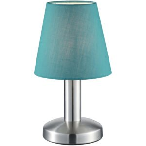 LED Tafellamp - Tafelverlichting - Trion Muton - E14 Fitting - Rond - Mat Turquoise - Aluminium-1