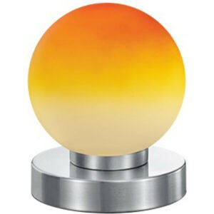 LED Tafellamp - Tafelverlichting - Trion Princo - E14 Fitting - Rond - Mat Oranje - Aluminium-1
