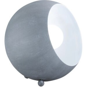 LED Tafellamp - Trion Blinky - E14 Fitting - Rond - Beton Look Grijs - Aluminium-1