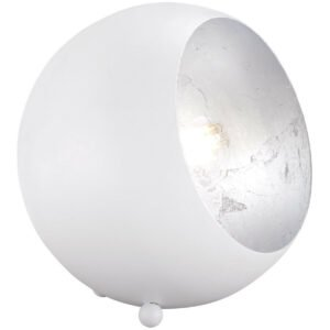 LED Tafellamp - Trion Blinky - E14 Fitting - Rond - Mat Wit - Aluminium-1