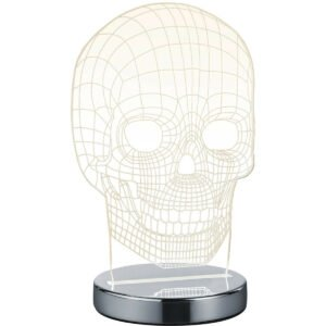 LED Tafellamp - Trion Skelly - 7W - Aanpasbare Kleur - Rond - Glans Chroom - Aluminium-1
