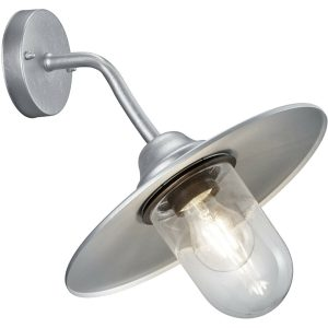 LED Tuinverlichting - Tuinlamp - Trion Brenionty - Wand - E27 Fitting - Mat Grijs - Aluminium-1