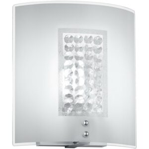 LED Wandlamp - Wandverlichting - Trion Cornio - E14 Fitting - Rechthoek - Mat Chroom - Aluminium-1